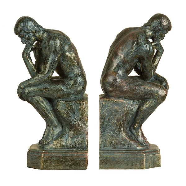 Polystone The Thinker Bookends