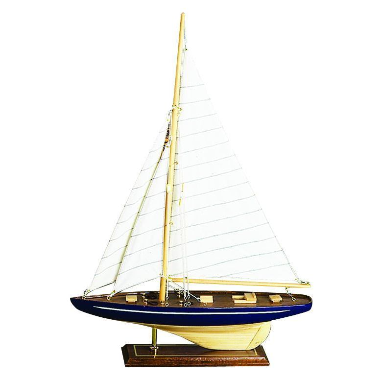 Benzara Decorative Wood Sailboat Accent Piece (Wood Sailb...