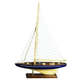 Decorative Wood Sailboat Accent Piece - Thumbnail 0