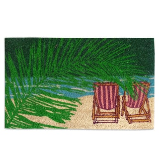 First Impression Tufted Coir Beach Doormat (1'6 x 2'6)