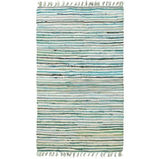 Hand-woven Jute/ Chenille Accent Eleanor Accent Rug Blue Rug (2'6 X 4'2)