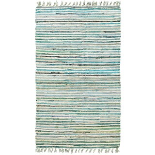 Hand-woven Jute/ Chenille Accent Eleanor Accent Rug Blue Rug - 1'9 X 2'10