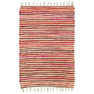 Hand-woven Jute/ Chenille Accent Eleanor Accent Rug Red Rug - 2'6 x 4'2