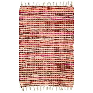 Hand-woven Jute/ Chenille Accent Eleanor Accent Rug Red Rug (1'9 X 2'10)