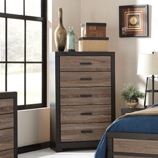 Signature Design by Ashley Harlington Grey Five Drawer Chest