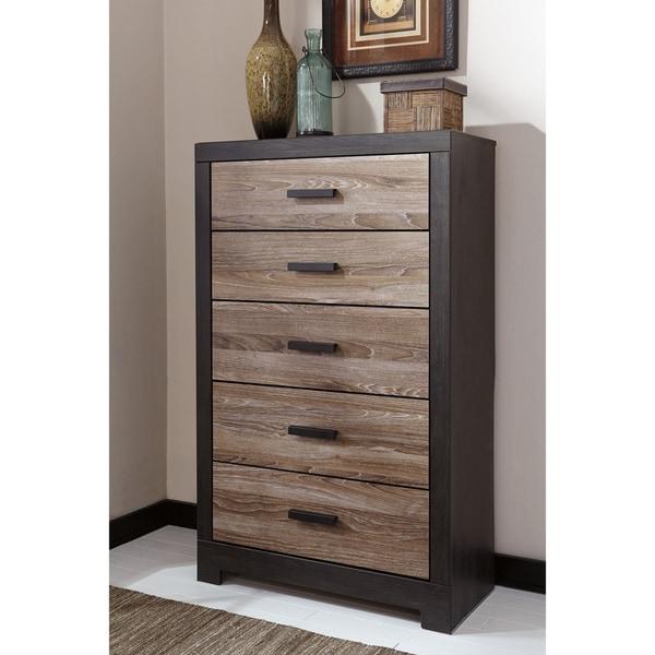 signature-design-by-ashley-harlington-grey-five-drawer-chest by signature-design-by-ashley