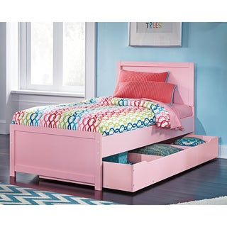 Signature Design By Ashley Bronett Pink Bed with Trundle