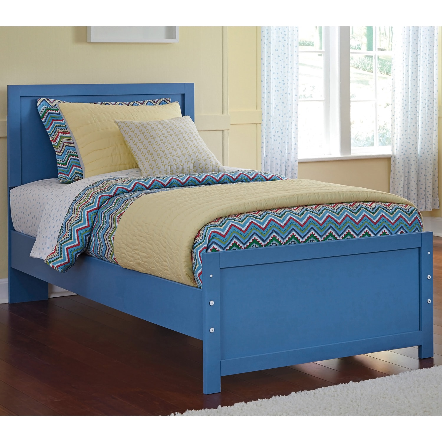Ashley Bronilly Metal Blue Bed (Twin)