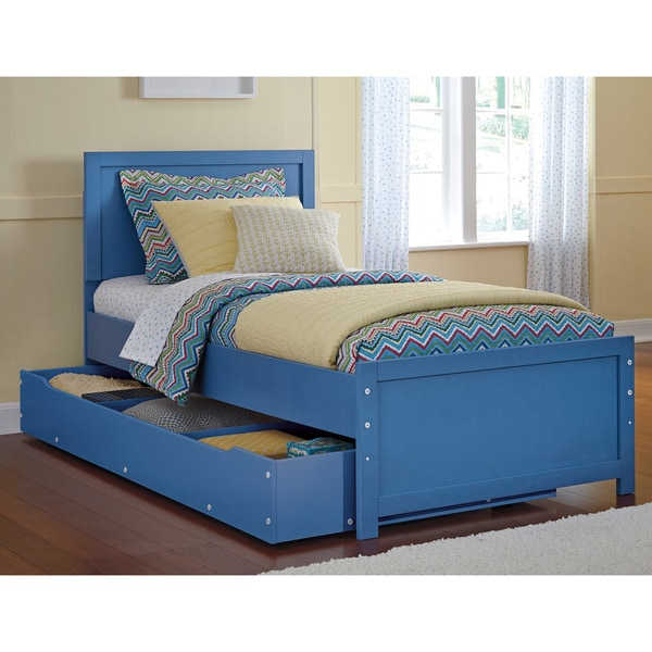 Signature Design By Ashley Bronilly Metal Blue Twin Bed With Trundle Free Shipping Today