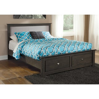 Signature Design By Ashley Shylyn Queen Charcoal Panel Bed with Storage
