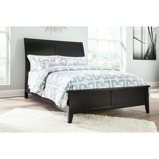 Signature Design By Ashley Brafllin Black Panel Bed