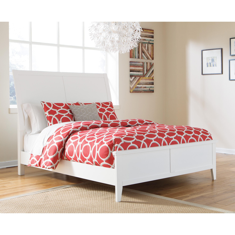 Ashley Langlor White Panel Bed (King)