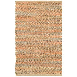 Hand-woven Jute/ Chenille Accent Timbuktu Accent Red Rug (2'6 X 4')