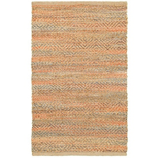 Hand-woven Jute/ Chenille Accent Timbuktu Accent Red Rug (1'9 X 2'10)