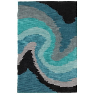 Hand-tufted Poly-acrylic Fashion Blue Rug (5' X 7'9)
