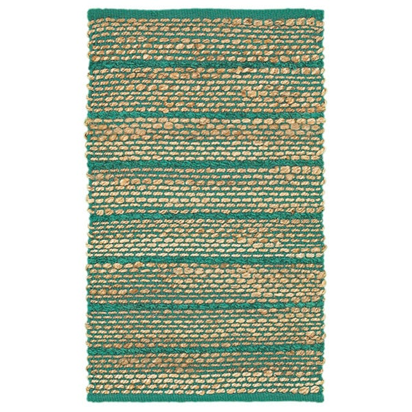 Shop Hand-woven Jute/ Chenille Jute And Chenille Green Rug