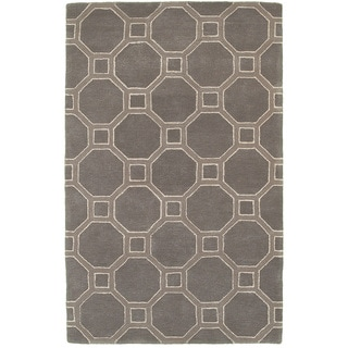Hand-tufted Viscose/ Wool Luxor Gray Rug (3'6 X 5'6)