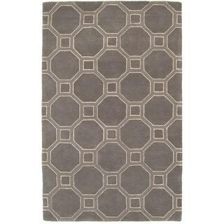 Hand-tufted Viscose/ Wool Luxor Gray Rug (3'6 X 5'6)