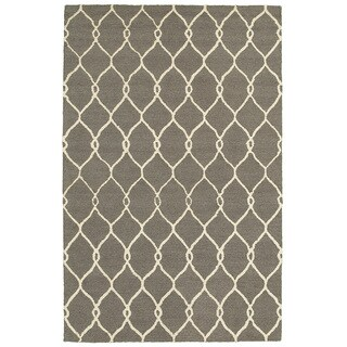 Wool Dazzle Gray/Ivory Rug (5' X 7'9)