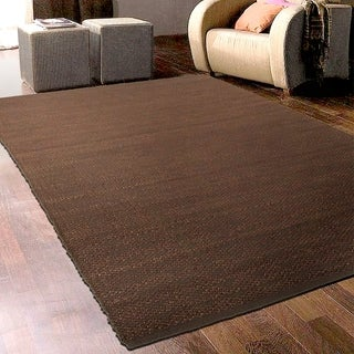 Hand-crafted Jute Elite Natural Copper Rug (5' X 7'9)