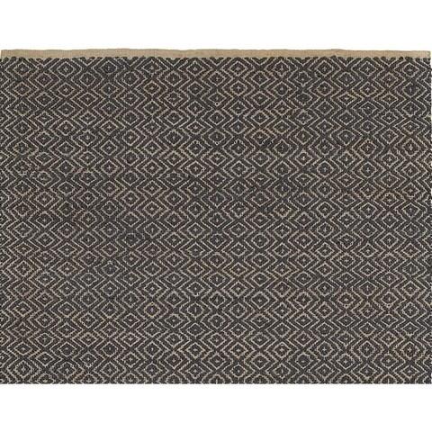 LR Home Jute Elite Natural Indigo Handmade Rug (5' X 7'9) - 5' x 7'9