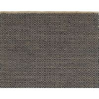 LR Home Jute Elite Natural Indigo Handmade Rug - 5' x 7'9