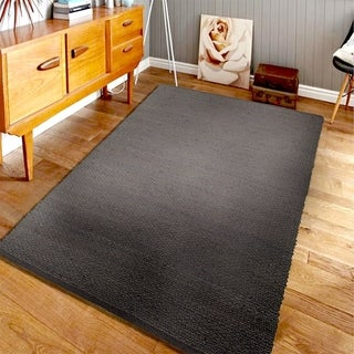 Hand-crafted Jute Elite Natural 03601 Pewter Rug (8' X 10')