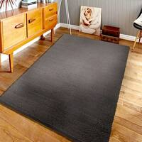 Hand-crafted Jute Elite Natural 03601 Pewter Rug - 8' x 10'