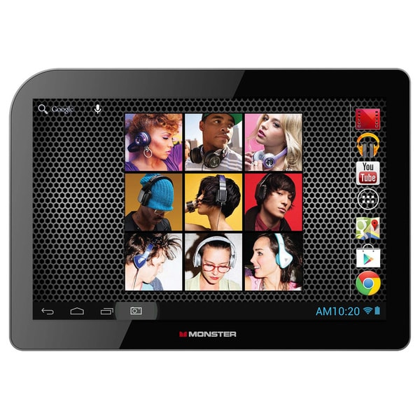 Monster M101BK Black 10.1-inch Quad-Core 16GB Android 4.2 Tablet
