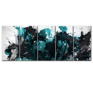 Ready2HangArt 'Inkd XLII' 5-piece Canvas Art Set