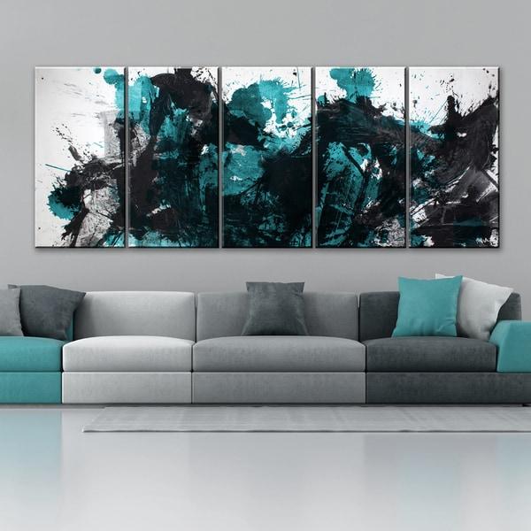 ready2hangart 39 inkd xlii 39 5 piece canvas art set free shipping today 17170136. Black Bedroom Furniture Sets. Home Design Ideas