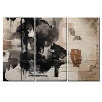 Ready2HangArt 'Inkd XXIX' 3-piece Canvas Art Set - Black/Grey/Brown