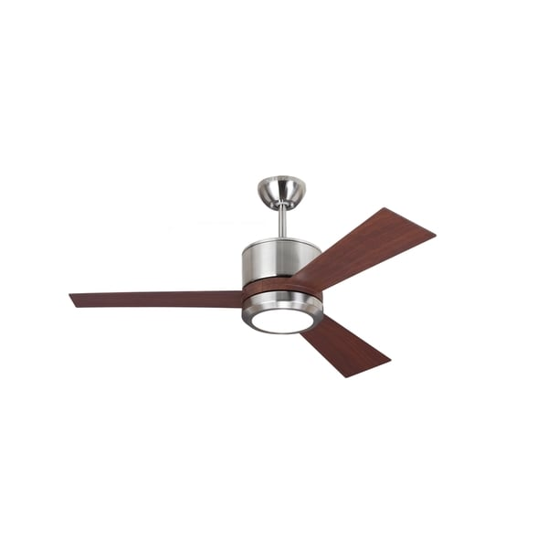 Shop monte carlo vision ii brushed steel 42 inch ceiling fan brown monte carlo vision ii brushed steel 42 inch ceiling fan brown 42 mozeypictures Image collections