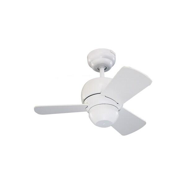 """Monte Carlo Micro 24 White 24-inch Ceiling Fan - 24"""" Micro 24 Fan"""