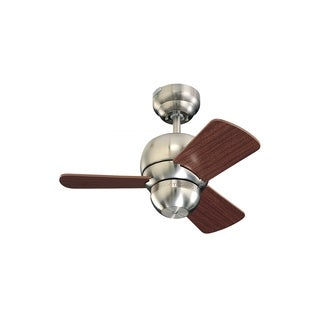 Monte Carlo Micro 24 Brushed Steel 24-inch Ceiling Fan