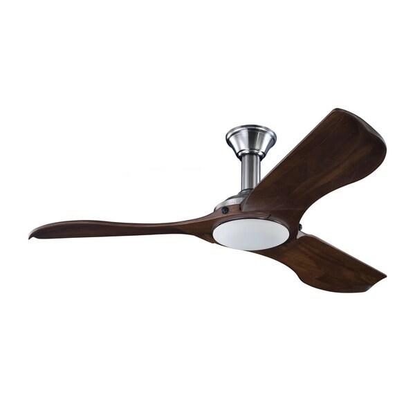 Monte Carlo Minimalist Brushed Steel 56-inch Ceiling Fan
