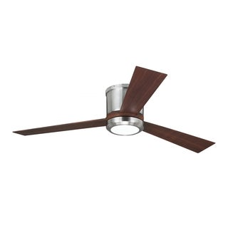 Monte Carlo Clarity Brushed Steel 52-inch Ceiling Fan