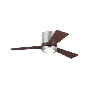 Monte Carlo Clarity II in Brushed Steel 42-inch Ceiling Fan