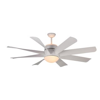 Monte Carlo Turbine Rubberized White 56-inch Ceiling Fan