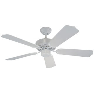 Monte Carlo Weatherford II Outdoor White 42-inch Ceiling Fan