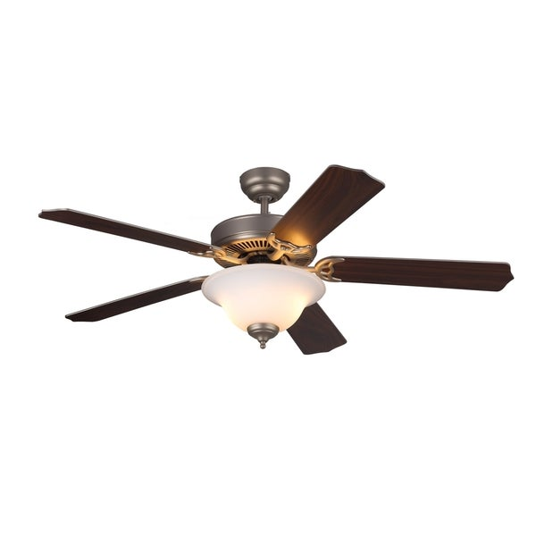 Monte Carlo Homeowner II Brushed Pewter 52-inch Ceiling Fan