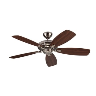 Monte Carlo Designer Max Brushed Steel 52-inch Ceiling Fan