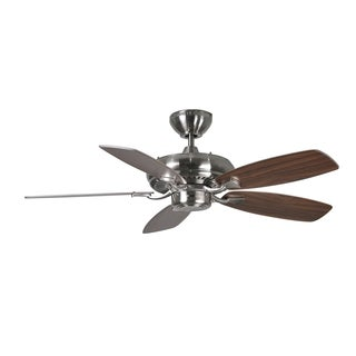 Monte Carlo Designer Max II Brushed Steel 44-inch Ceiling Fan