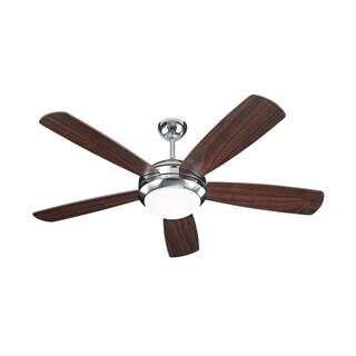 Monte Carlo Discus Polished Nickel 52-inch Ceiling Fan