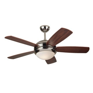 Monte Carlo Discus II Polished Nickel 44-inch Ceiling Fan