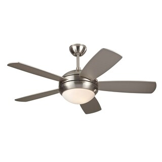 Monte Carlo Discus II Brushed Steel 44-inch Ceiling Fan