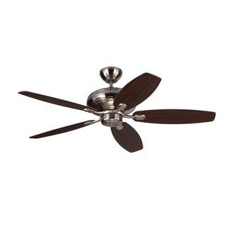 Monte Carlo Centro Max Brushed Steel 52-inch Ceiling Fan