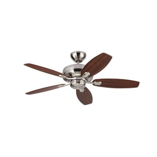 Monte Carlo Centro Max II Brushed Steel 44-inch Ceiling Fan
