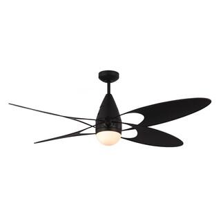 Monte Carlo Butterfly Matte Black 54-inch Ceiling Fan