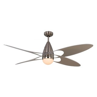 Monte Carlo Butterfly Brushed Steel 54-inch Ceiling Fan
